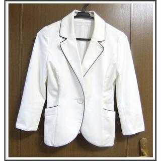 アンタイトル(UNTITLED)のANT 美品 白 ホワイト ライン 春 夏 ジャケット 0531(テーラードジャケット)