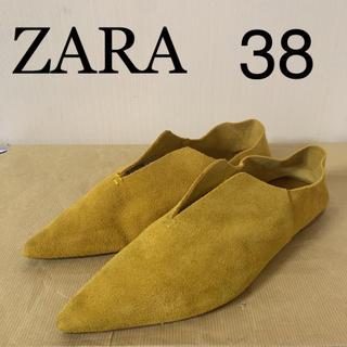 ザラ(ZARA)のZARA  2way フラットシューズ バブーシュ 38(スリッポン/モカシン)