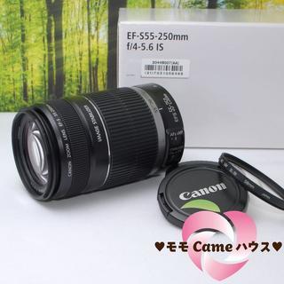 キヤノン(Canon)のキャノン望遠レンズ★EF-S 55-250mm手ブレ補正つき☆845-1(レンズ(ズーム))