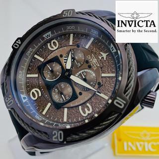 インビクタ(INVICTA)の【新品】定価1095ドル インビクタ 腕時計 アビエイター ブラウン メンズ(腕時計(アナログ))