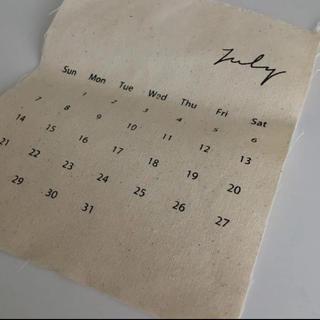 値下げしました ファブリック カレンダー(2019 切れ端1枚(カレンダー/スケジュール)