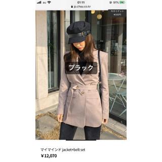 スタイルナンダ(STYLENANDA)のCHUU ベルト付きジャケット 黒(テーラードジャケット)