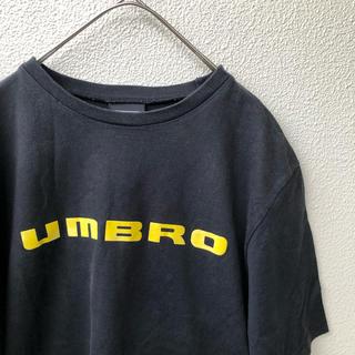 アンブロ(UMBRO)のアンブロ センターロゴ Tシャツ UMBRO 黒 М デサント 黄色 90s(Tシャツ/カットソー(半袖/袖なし))