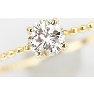 ☆新品未使用K18イエローゴールド ダイヤモンドリング 0.20ct(リング(指輪))