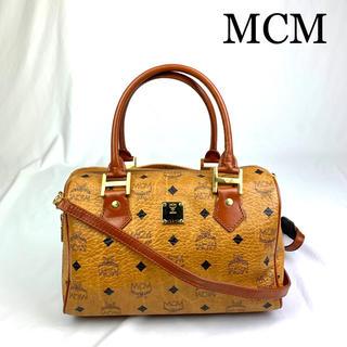 エムシーエム(MCM)の極美品 MCM ロゴ金具 2way  ショルダーバッグ(ショルダーバッグ)
