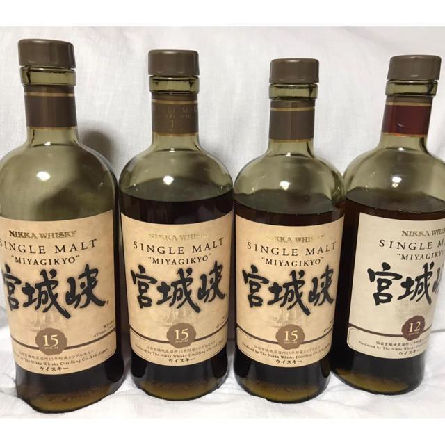 ニッカウヰスキー(ニッカウイスキー)の終売品! 宮城峡シリーズ 15年12年 食品/飲料/酒の酒(ウイスキー)の商品写真
