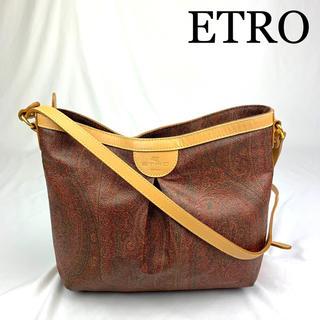 ETRO - 極美品 ETRO エトロ レザー ペイズリー ショルダーバッグ