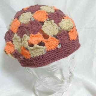 カシラ(CA4LA)のコットン コースター編み?ベレー帽 タム 未使用品 CA4LA(ハンチング/ベレー帽)