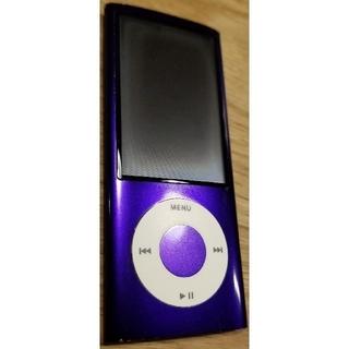 アイポッドタッチ(iPod touch)のiPod nano 第5世代 8GB パープル ドックコネクタ付(ポータブルプレーヤー)