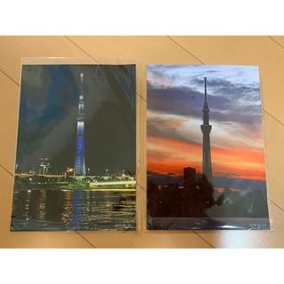 東京スカイツリーの写真2枚セット(アート/写真)