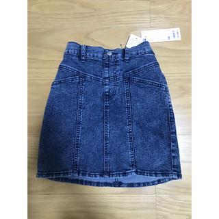 ジーユー(GU)の未使用品 GIRLS GU デニムミニスカート 130(スカート)
