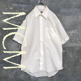 エムシーエム(MCM)のMCM ボタンダウンシャツ 半袖 シャツ ホワイト L ドレスシャツ メンズ(シャツ)