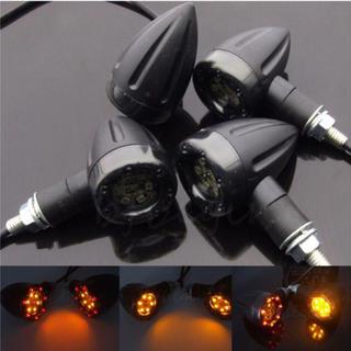 【送料無料】 バイク アメリカン ハーレー風 LED ウインカー ブレーキ 4つ