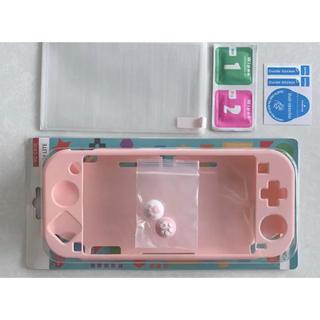 任天堂スイッチライト ピンク パステル ガラスフィルム 肉球(ゲーム)