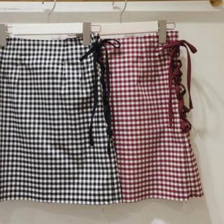 evelyn - evelyn♡チェック編み上げスカート