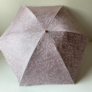 カルヴェン(CARVEN)のカルヴェン 折りたたみ傘 ピンク レース模様 未使用(傘)