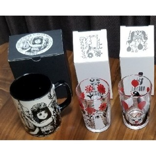 ヒグチユウコ サーカス展 未使用品 グラス マグカップ セット♥️(その他)