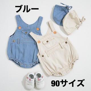 デニムサロペット⭐︎ボンネット付き⭐︎ 海外こども服 韓国子供服