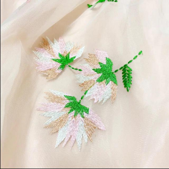 Chesty(チェスティ)の値下げ!新品タグ付き✨チェスティ✨フラワー刺繍 オーガンジー✨ミモレ丈スカート レディースのスカート(ひざ丈スカート)の商品写真