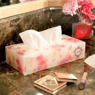 レディー(Rady)のRady♡フラワーアクリルティッシュケースホワイト花柄カバーボックス(ティッシュボックス)