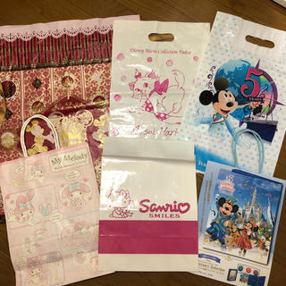 Disney - ディズニー サンリオ ショッパー ショ袋 ショップ袋 ショッピングバッグ
