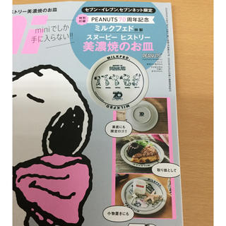 ピーナッツ(PEANUTS)のmini付録 スヌーピ ヒストリー美濃焼のお皿(食器)