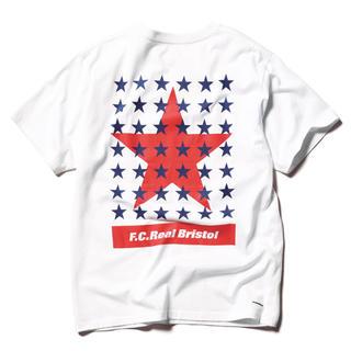 エフシーアールビー(F.C.R.B.)のM 新品 FCRB 20SS 43STARS TEE WHITE(Tシャツ/カットソー(半袖/袖なし))