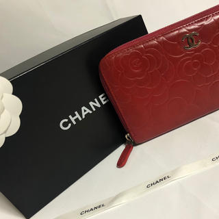 シャネル(CHANEL)のシャネル 長財布 カメリア ラウンドファスナー バイカラー(財布)