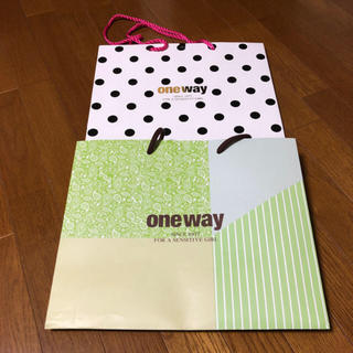 ワンウェイ(one*way)のone way ショッパーセット(ショップ袋)