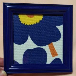 【marimekkoマリメッコ】ブルーのウニッコ柄 インテリア 置物(インテリア雑貨)