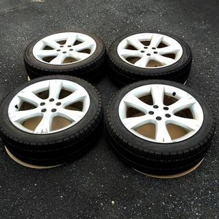 スバル(スバル)のスバル純正アルミホイール スタッドレスタイヤ付き 4本セット 215/45R17(タイヤ・ホイールセット)
