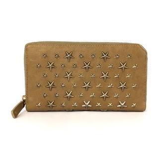 ジミーチュウ(JIMMY CHOO)の正規品 ジミーチュウ 長財布 ラウンドファスナー スタッズ(財布)