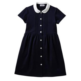 ミキハウス(mikihouse)の新品 MIKIHOUSE 丸襟半袖ワンピースミキハウス 90cm(ワンピース)