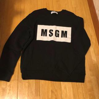 エムエスジイエム(MSGM)のMSGM  ブラックロゴトレーナー(トレーナー/スウェット)