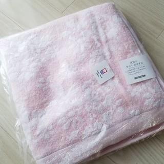 イマバリタオル(今治タオル)の今治バスタオル 新品未使用 ピンク(タオル/バス用品)