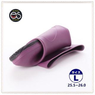 【19044_PURPLE_L】 折り畳み式レインブーツ 携帯と保管に便利*1(長靴/レインシューズ)