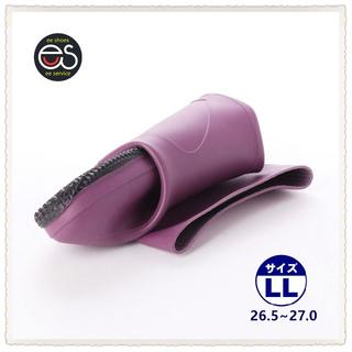 【19044_PURPLE_LL】 折り畳み式レインブーツ 携帯と保管に便利*1(長靴/レインシューズ)