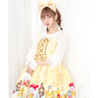 アンジェリックプリティー(Angelic Pretty)のAngelic Pretty ハニーケーキJSKとカチューシャのセット(ひざ丈ワンピース)