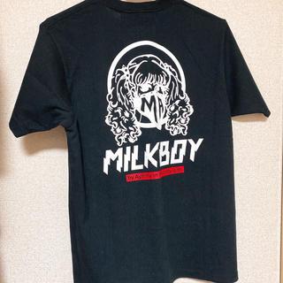 ミルクボーイ(MILKBOY)の新品未使用 MILKBOY aymmy コラボ Tシャツ ブラック(Tシャツ/カットソー(半袖/袖なし))