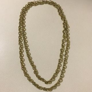 エイチアンドエム(H&M)のH&M エイチアンドエム ゴールド  金色 二連 ネックレス(ネックレス)