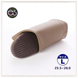【19044_KHAKI_L】 折り畳み式レインブーツ 携帯と保管に便利*1(長靴/レインシューズ)