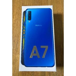 SAMSUNG - Galaxy A7 ブルー 新品未使用 simフリー