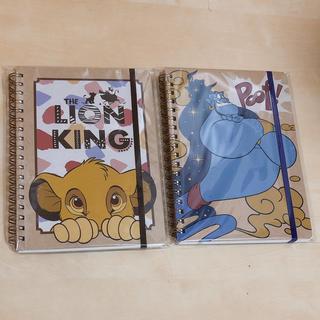 ディズニー(Disney)のジーニー ライオンキング リングノート  2冊セット(ノート/メモ帳/ふせん)