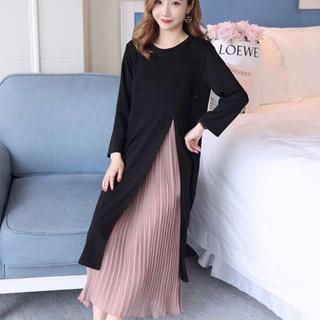 すぐ発送♡サイドスリット ワンピース スカート ドレス フォーマル 二次会(ロングドレス)