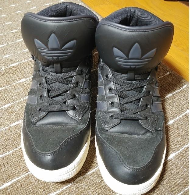 adidas(アディダス)のアディダス 28cm ハイカットスニーカー ビッグタン 黒色 メンズの靴/シューズ(スニーカー)の商品写真