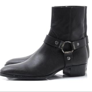 サンローラン(Saint Laurent)の新品 saint laulent リングブーツ ハーネス 42 ブラック(ブーツ)