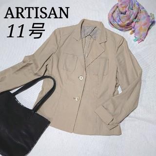 アルティザン(ARTISAN)のARTISAN 綿麻 テーラードジャケット 11号 アルティザン(テーラードジャケット)