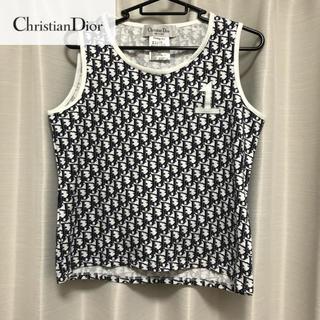 クリスチャンディオール(Christian Dior)の美品【Christian Dior】ロゴタンクトップ トロッター(タンクトップ)