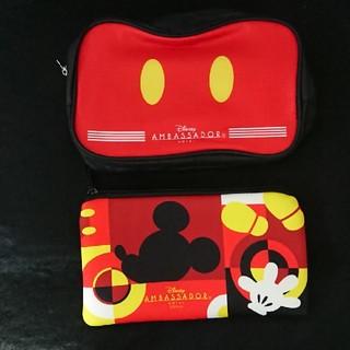 ディズニー(Disney)のディズニー アンバサダー ホテル 新品 非売品 ポーチ ミッキー セット(キャラクターグッズ)