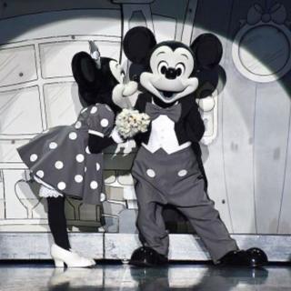 ディズニー(Disney)のインナーマスク・ミッキー柄・ディズニー柄・モノクロ・ミッキーアンドフレンズ柄(その他)